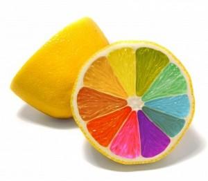 цветной лимон