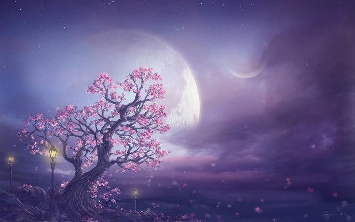 луна и затмение