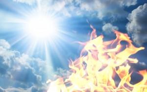 небо солнце и огонь