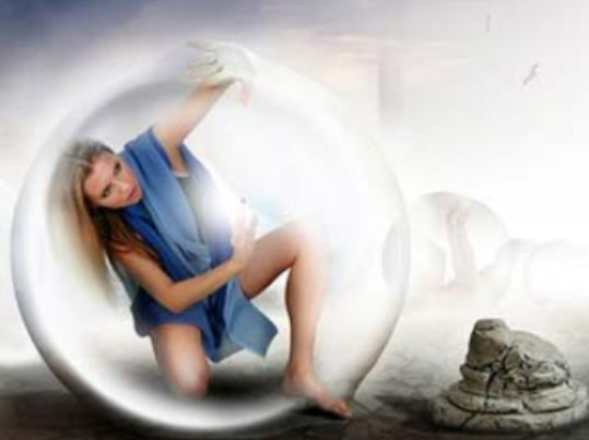девушка в шаре