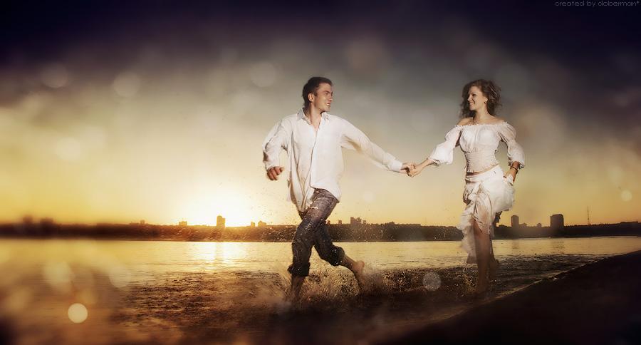 двое по воде_романтика
