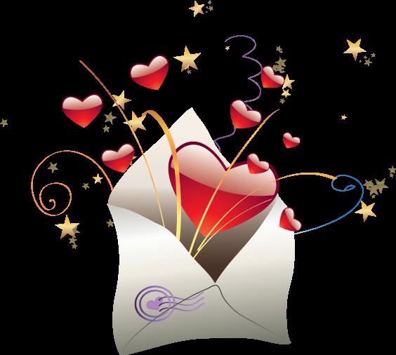 открытка с сердцами