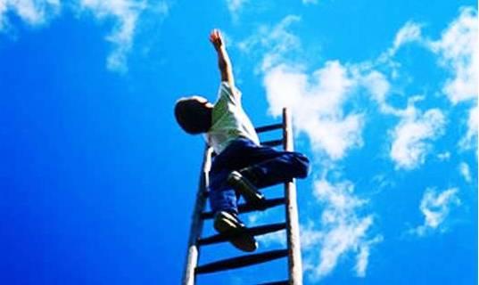 малыш лестница в небо!