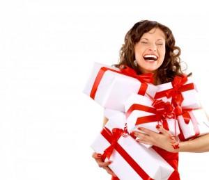 девушка подарки