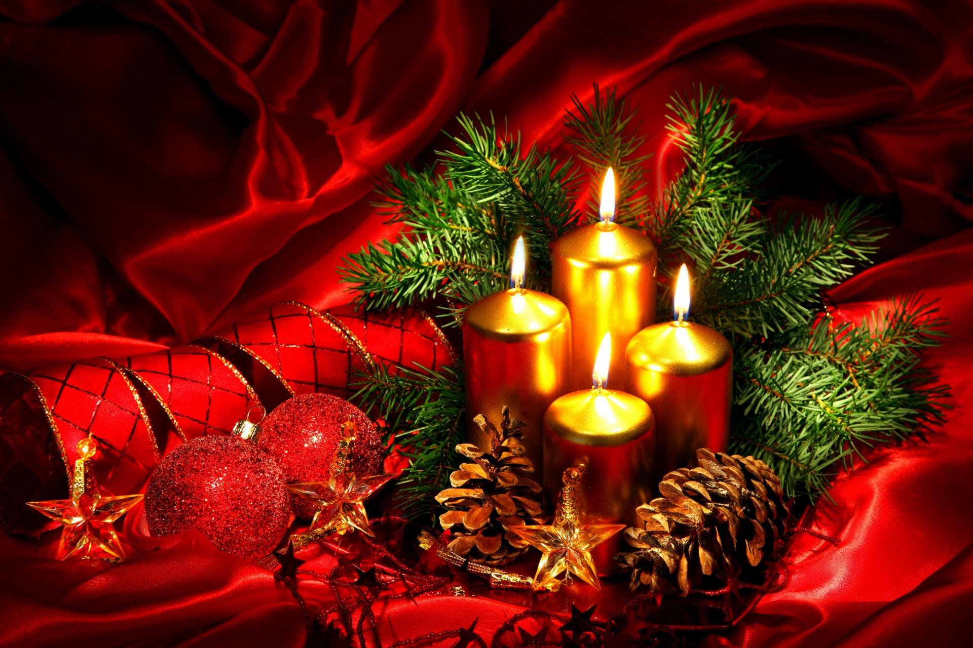 Holidays_Christmas!!! крас свечи