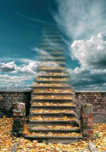 лестница осень