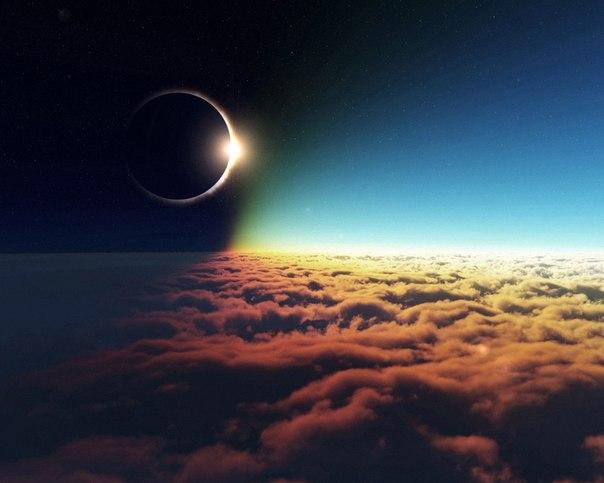 новолуние затмение облака