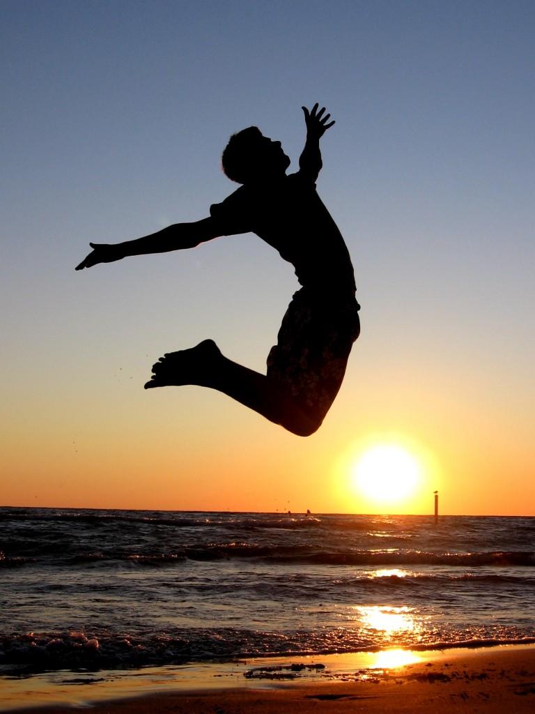 прыжок радость