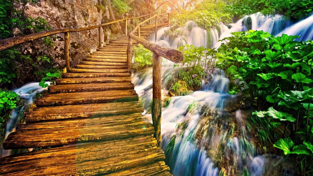 wooden-bridge-over-waterfalls